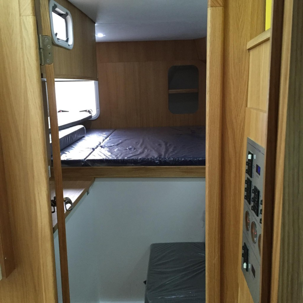 Aft guest cabin with full size double berth