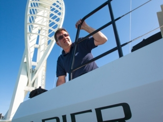 Mark Jarvis, production director, Broadblue Catamarans