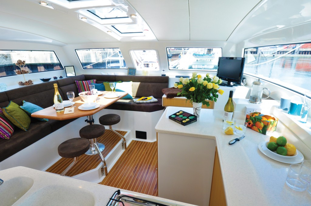 The spacious, airy saloon