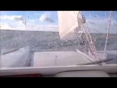 Rapier 400 sailing in 35 knots of true wind