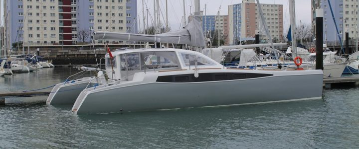 Rapier 400LR on show at the South Coast Boat Show