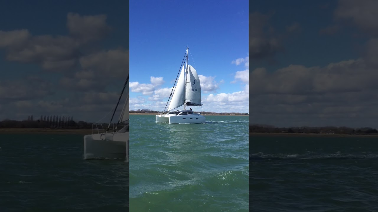 Broadblue 346, Chichester Harbour, East Solent on a gusty day