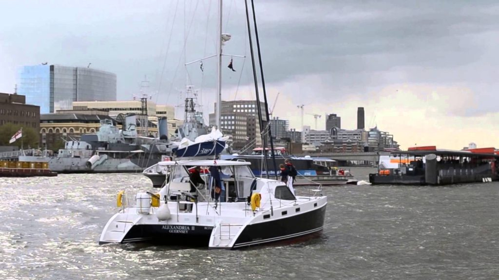 Yacht Alexandria II raises Tower Bridge May 2013